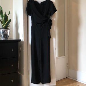 Leith surplice black jumpsuit